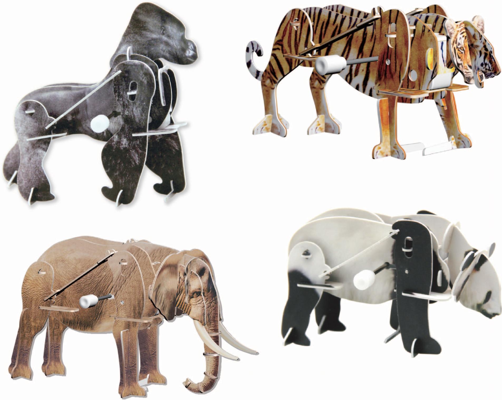 3-D motokit - animals